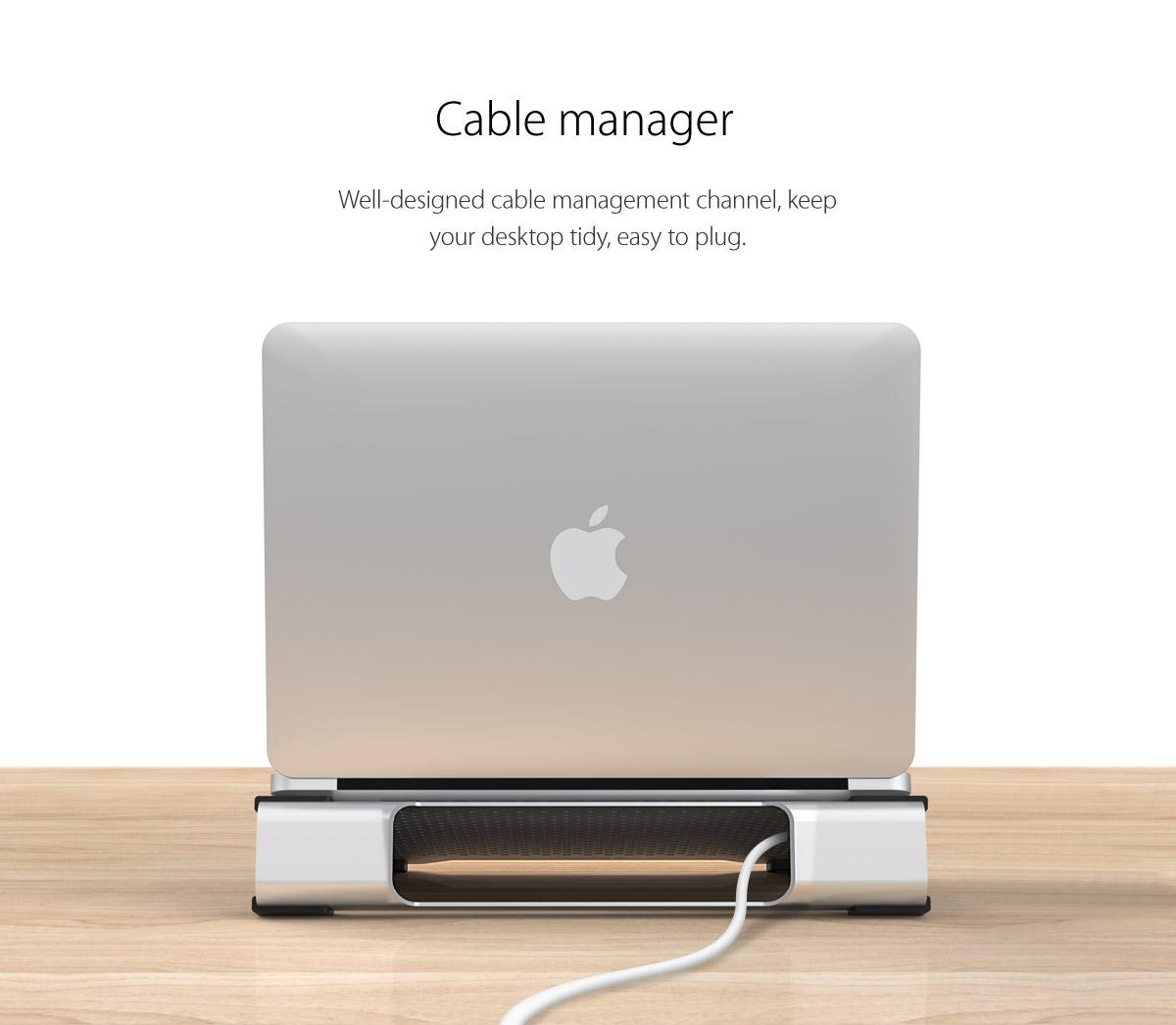well-designed cable management channel