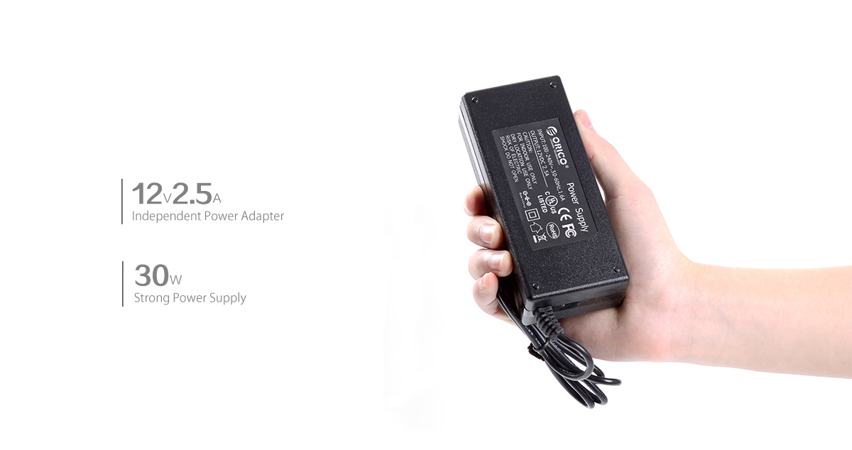 the USB2.0 hub is enclosed with 30W power adapter, stable operation