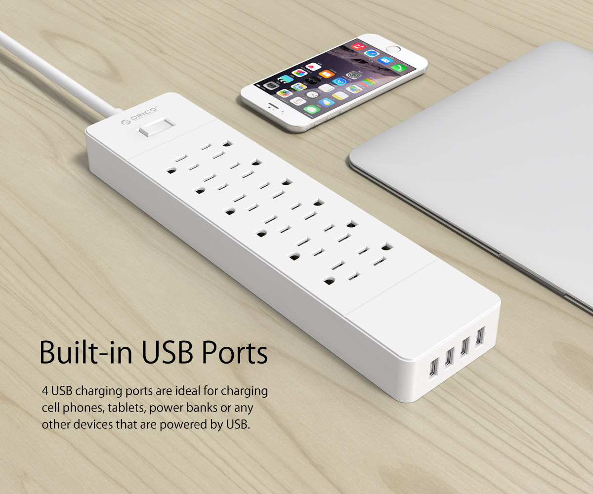 built-in USB ports