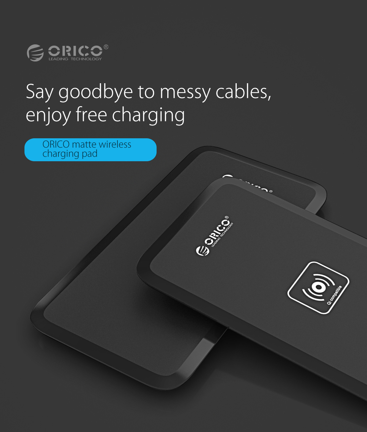 orico wireless charger, say goodbye to messy table