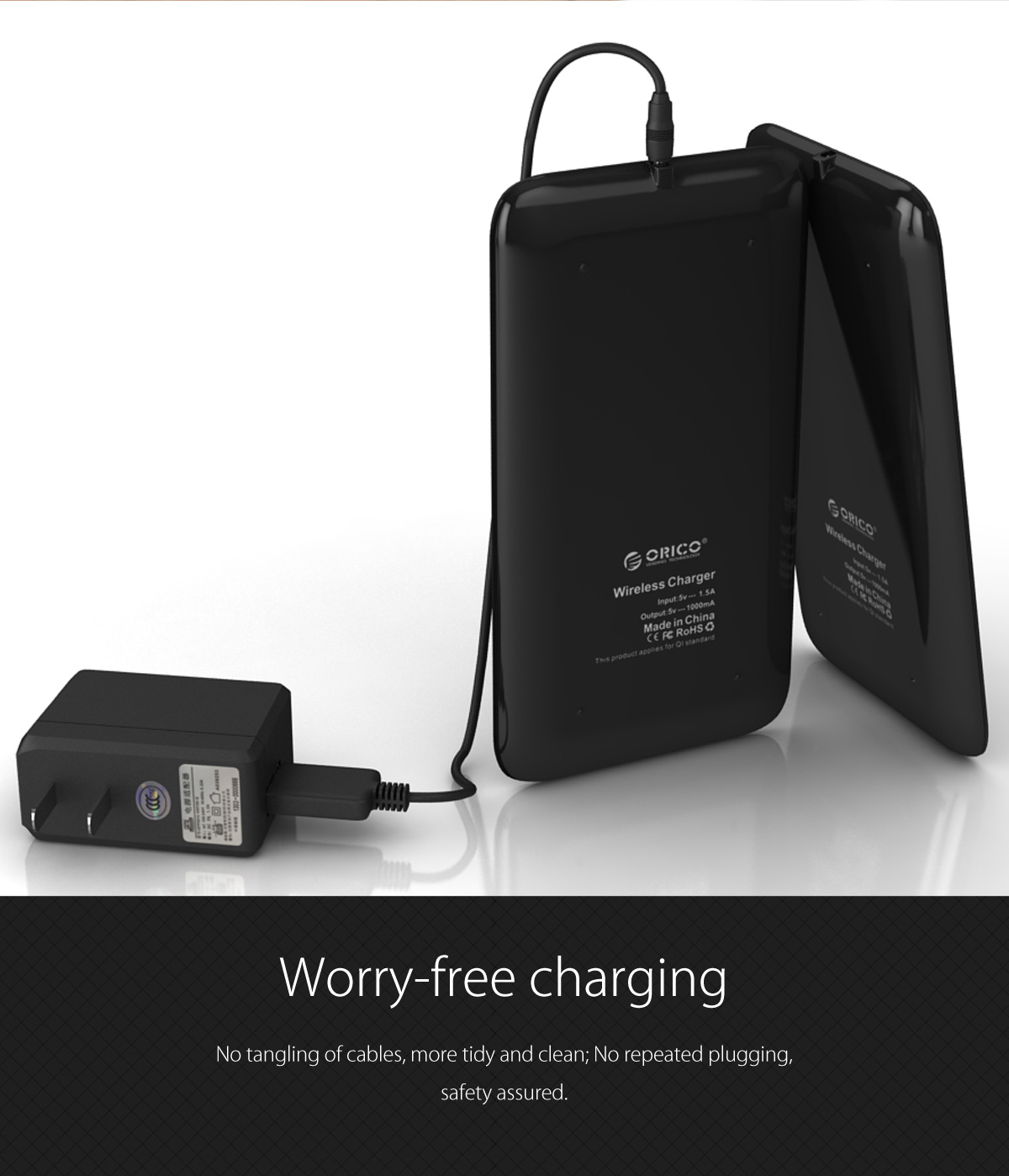 worry-free charging, tidy and clean