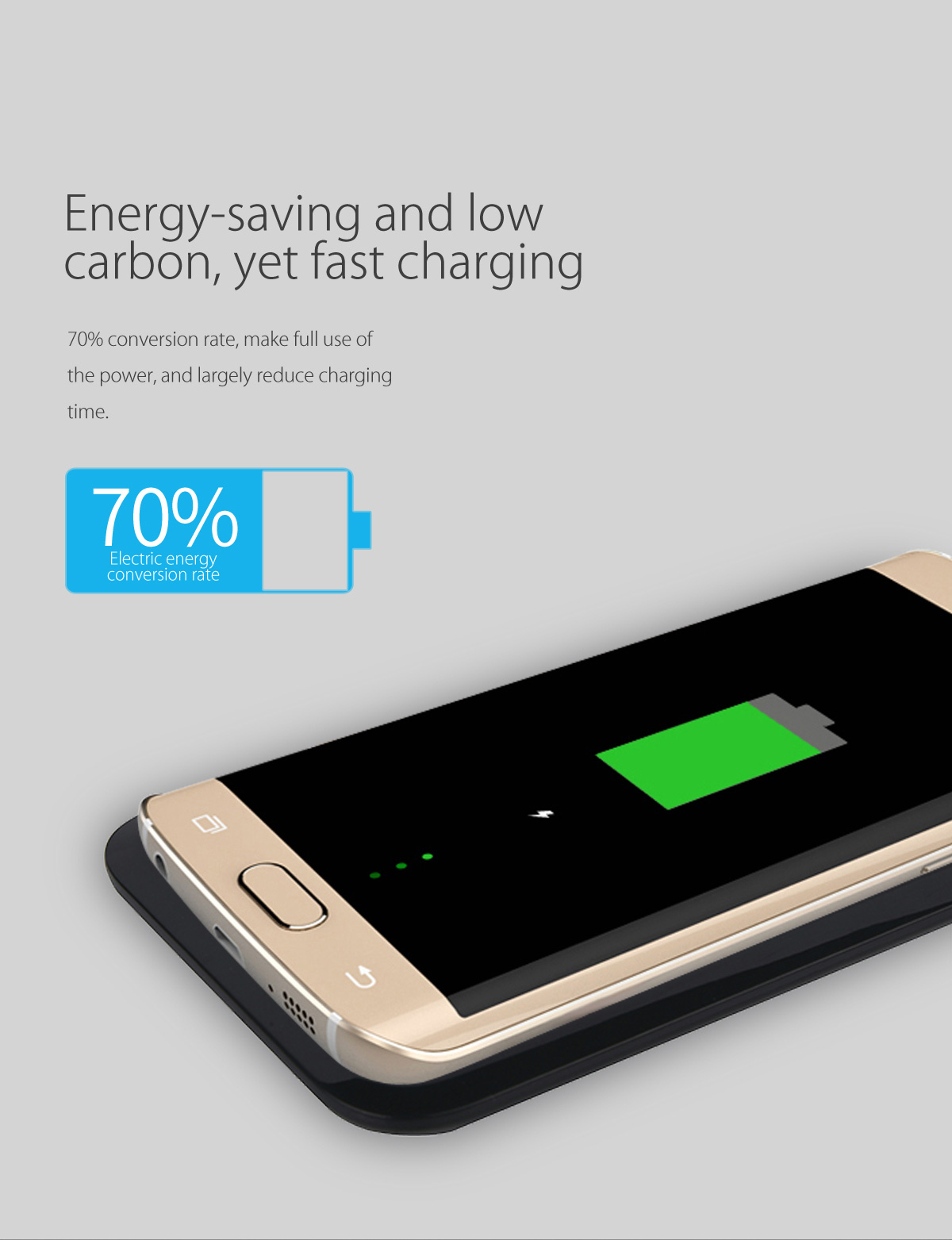 anti-skid matte surface, stable charging