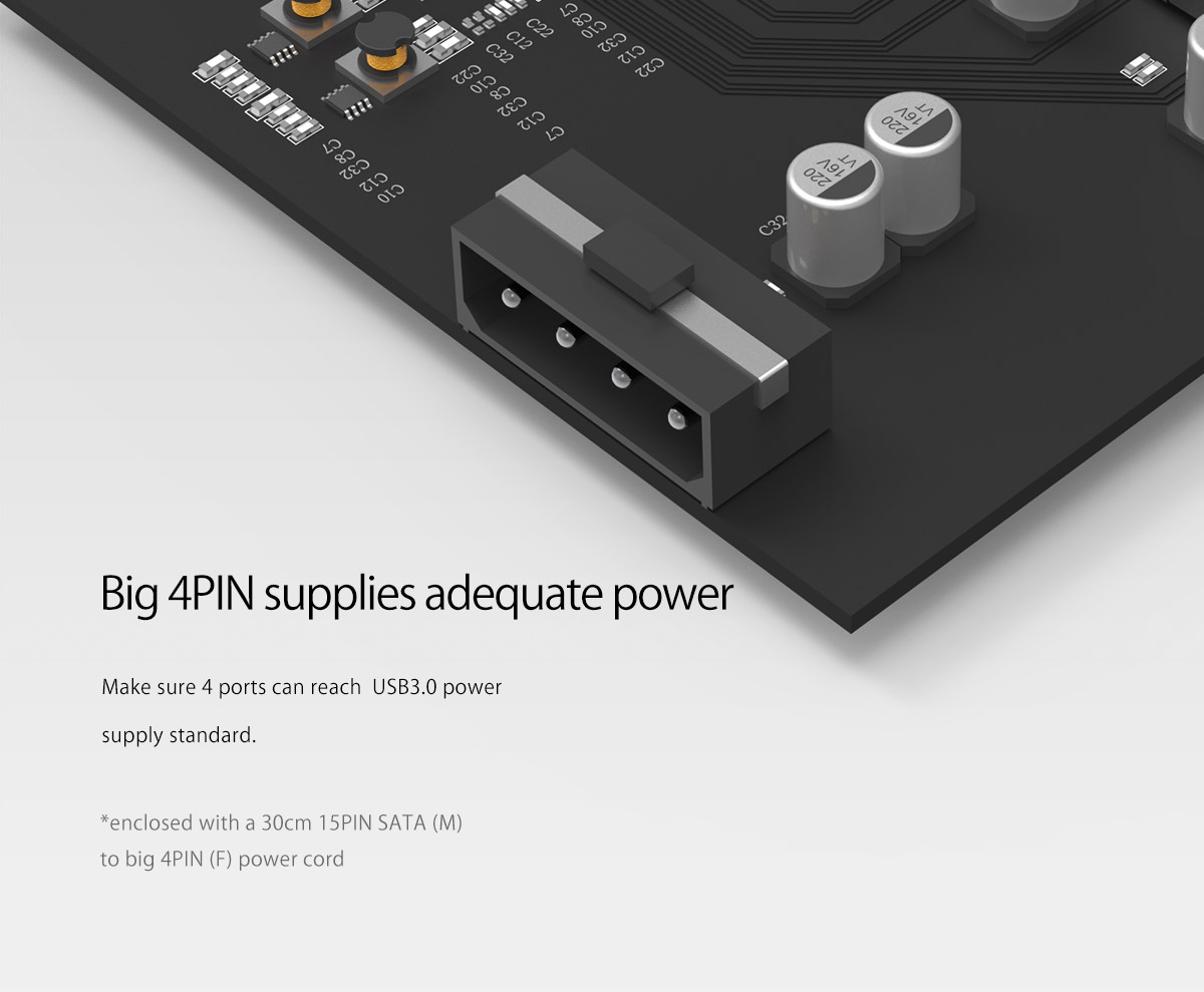 big 4Pin strong power supply