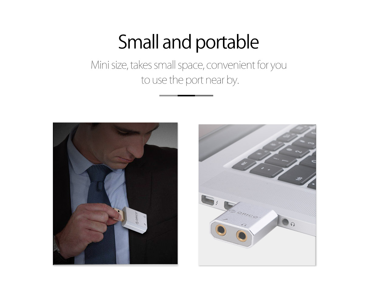 small and portable sound card