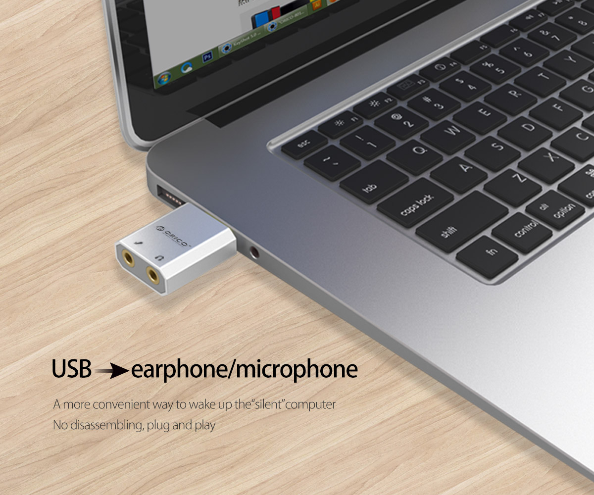 USB to earphone/microphone