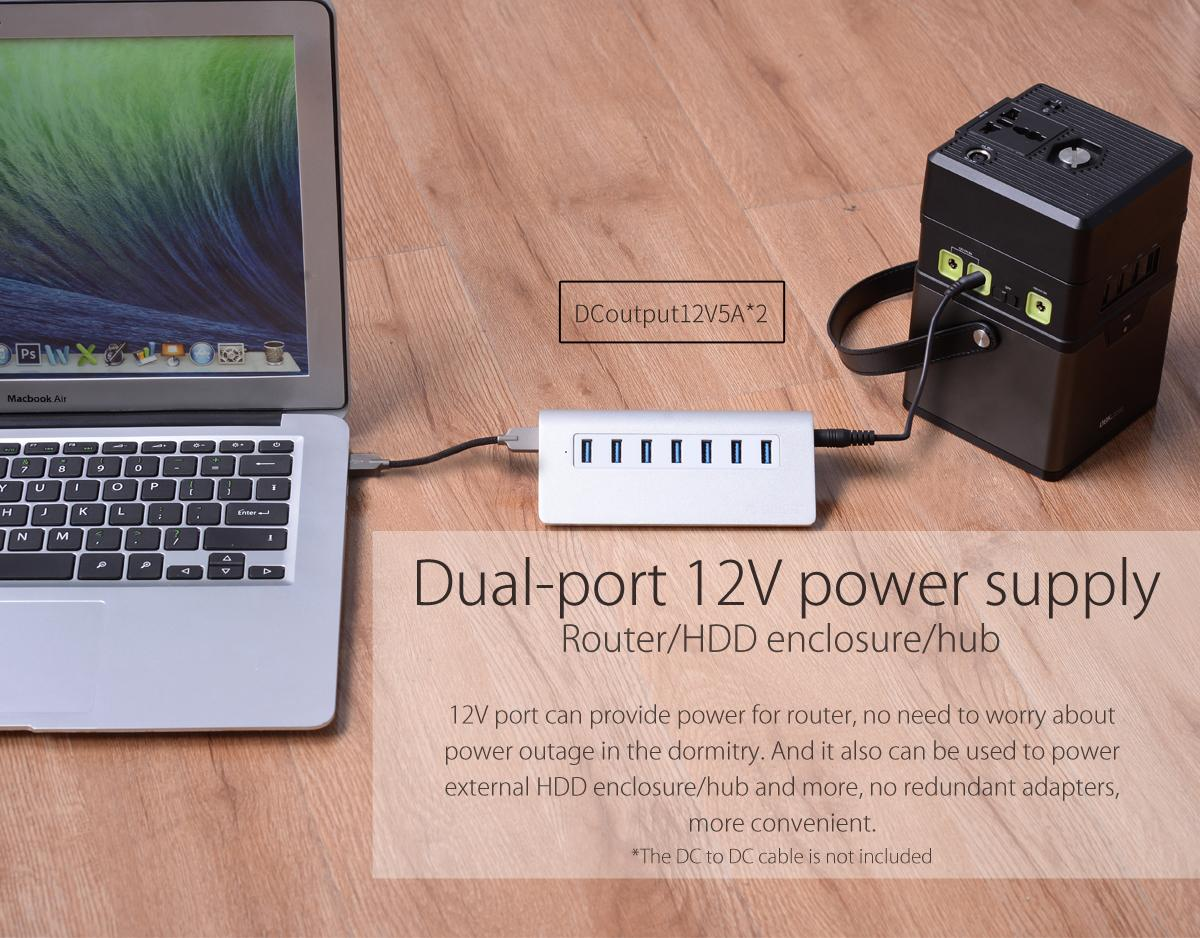 dual-port 12V power supply
