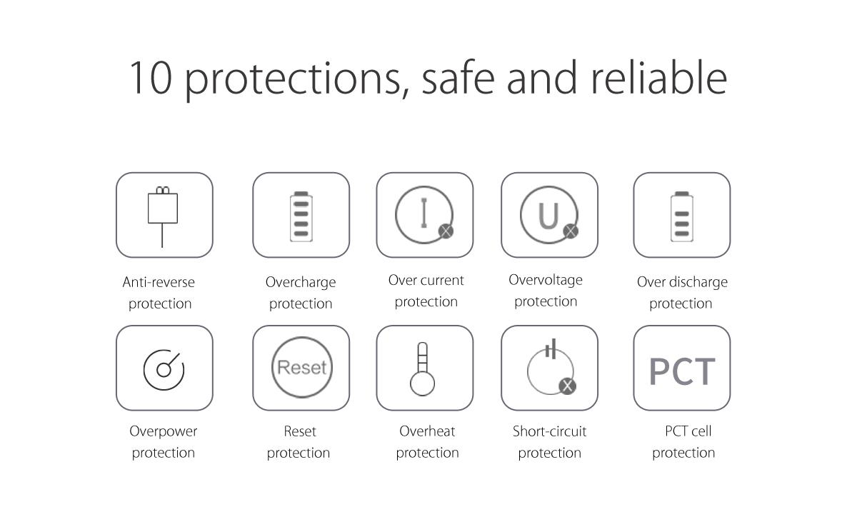 10 portections,safe and reliable