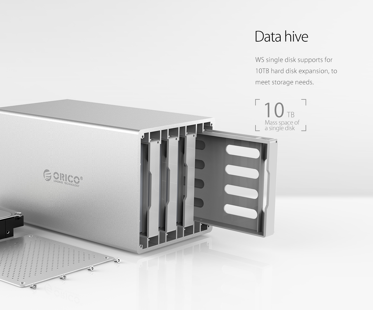 support up 10TB large capacity per disk